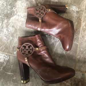Tory Burch miller leather booties / boots